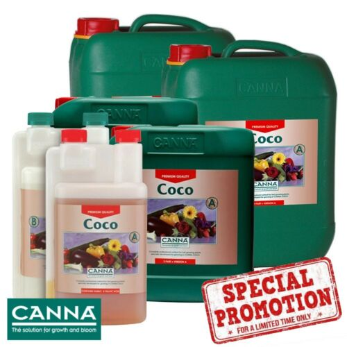 Canna Coco A+B 1,5,10 Litre Veg & Flower Plant Food Nutes Nutrients Hydroponics