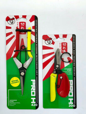 OKSINTO BUD TRIMMING LEAF SNIPS & PRUNING SCISSORS JAPANESE STEEL HYDROPONICS