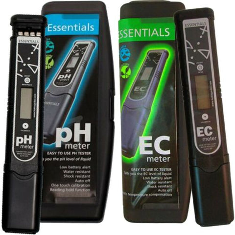 Essentials pH and EC Meter Pen Bundle Nutrient Management Control Hydroponics