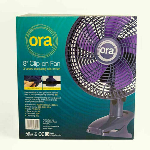 "8"" Clip On Fan Oscillating Grow Room Tent Air Control Cooling Circulation Hydro"