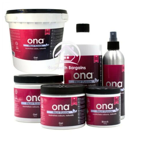ONA Block, Gel or Liquid Odour Control Neutraliser Eliminate Smells FRUIT FUSION