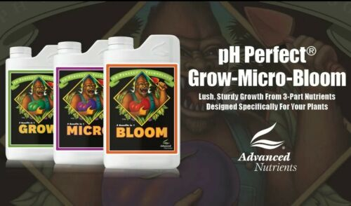 Advanced Nutrients PH PERFECT 1 Litre 1L Micro Grow Bloom Bundle 3 Part Formula