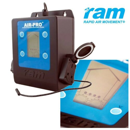 RAM Air Pro Twin Fan Speed Climate Controller Thermostat Digital Hydroponics