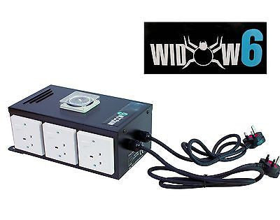 6 WAY PROFESSIONAL CONTACTOR RELAY CONTROL UNIT, BLACK WIDOW BOX, BUILT IN TIMER