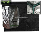 2.4m x 2.4m x 2m MONSTERBUD PRO Silver Mylar Grow Box Dark Room Tent Hydroponics