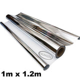 Silver White Lightite Mylar 125mu Heavy Duty Reflective Foil Sheeting TearProof