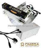 250w 400w 600w OMEGA Metal Ballast Grow Light Kit, HPS Dual Spectrum Bulb, Hood