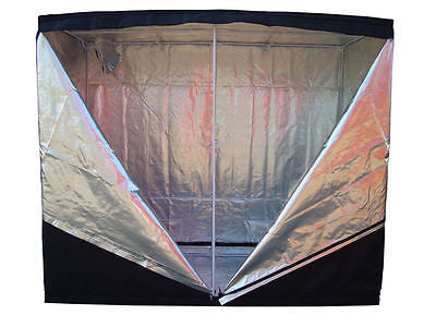"2m x 2m x 2m Grow Room Tent ""Monsterbud Urban"" Silver Mylar, Bud Box Dark Room Hydroponics"