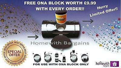 Ona Air filter Inline Ducting Block Holder, Remove Odour Control Hydroponics