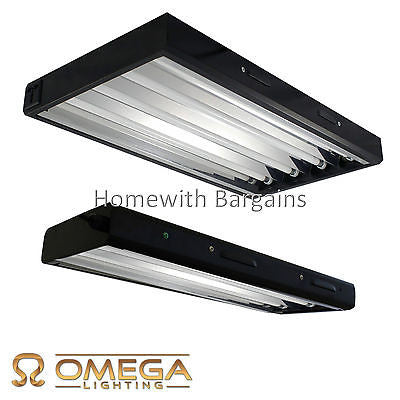 Omega 2 or 4 Tube T5 Propagation CFL Low Energy Grow Light tubes Hydroponics