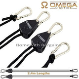 2 x Rope Ratchet YoYo Adjustable Hangers for Fan Filter Light Fitting upto 68kgs