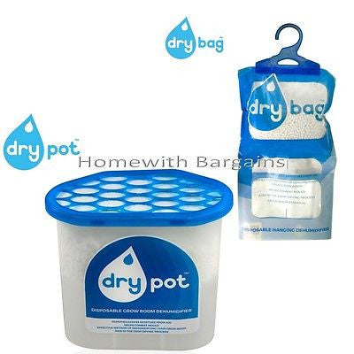 Dehumidifier Disposable Hanging DRY BAG or DRY POT. Stop Mould Grow Room Crop