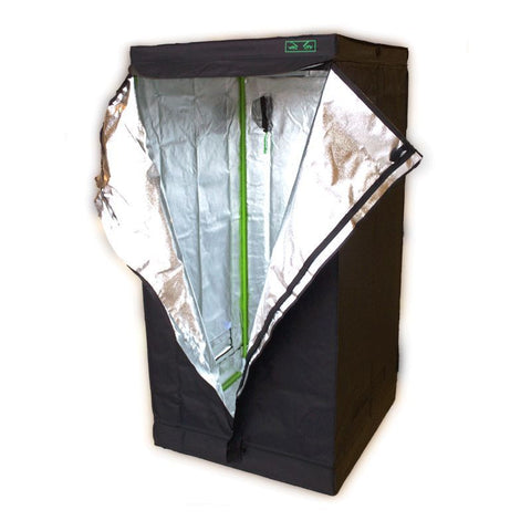 "80 x 80 x 160cm ""MONSTERBUDS URBAN"" Silver Mylar Grow Room Box Tent Hydroponics"