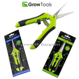 BUD TRIMMING LEAF SNIPS SCISSORS CURVED or STRAIGHT RAZOR SHARP HYDROPONICS