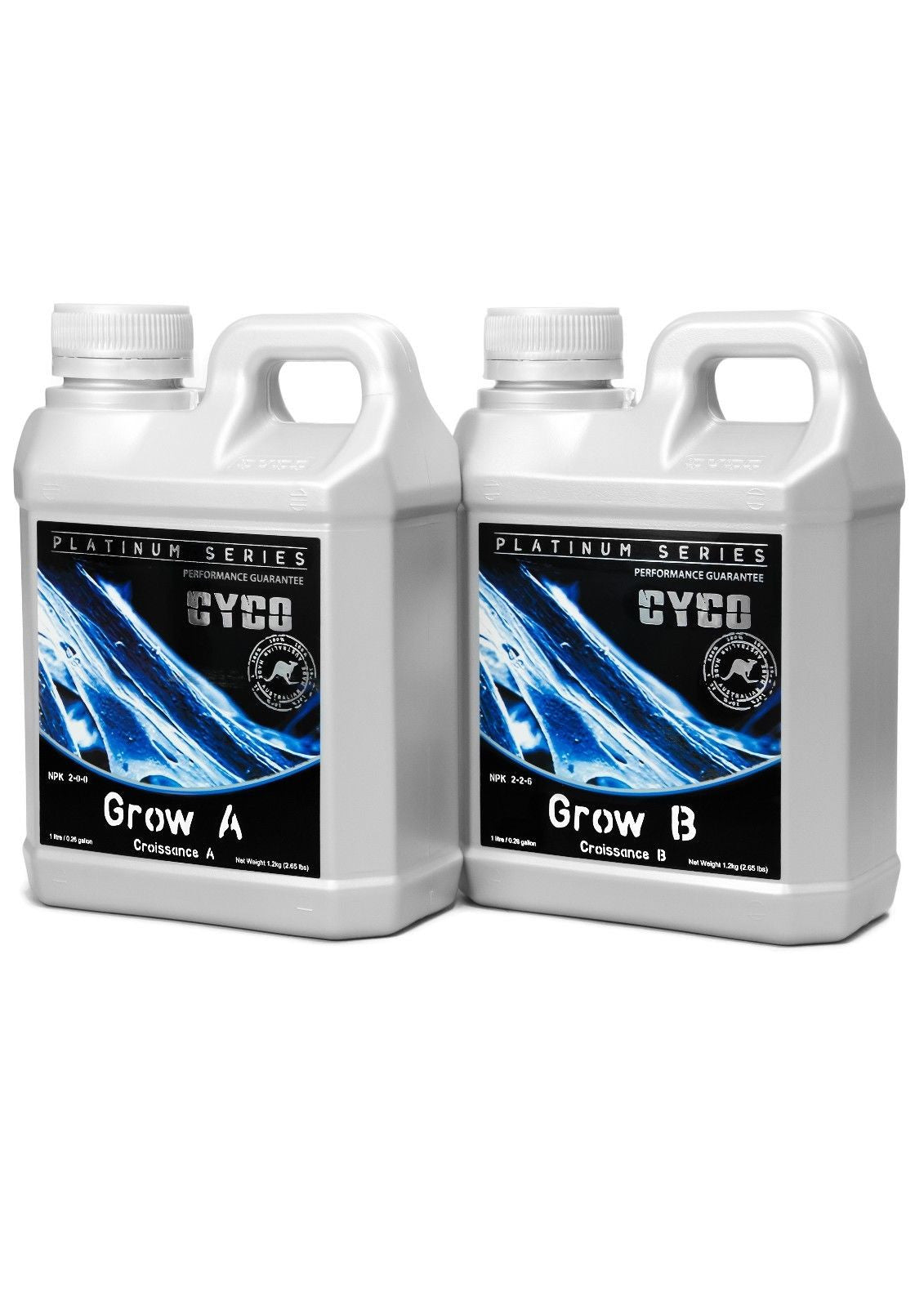 CYCO Platinum Series Hydroponics Nutrients 1L, 5L Grow A+B Bloom, Flower, Swell
