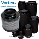 "VORTEX PREMIUM CARBON FILTER, Air Odor Scrubber 4"" 5"" 6"" 8"" 10"" 12"" Hydroponics"