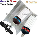 "Best Complete 300w CFL Grow, Flower Room Full Setup 80cm Tent 4"" Fan, Filter"