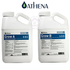 ATHENA BLENDED LINE - Grow A+B, Bloom A+B, 2 Part Feed Nutrients 3.8Ltr Bottles
