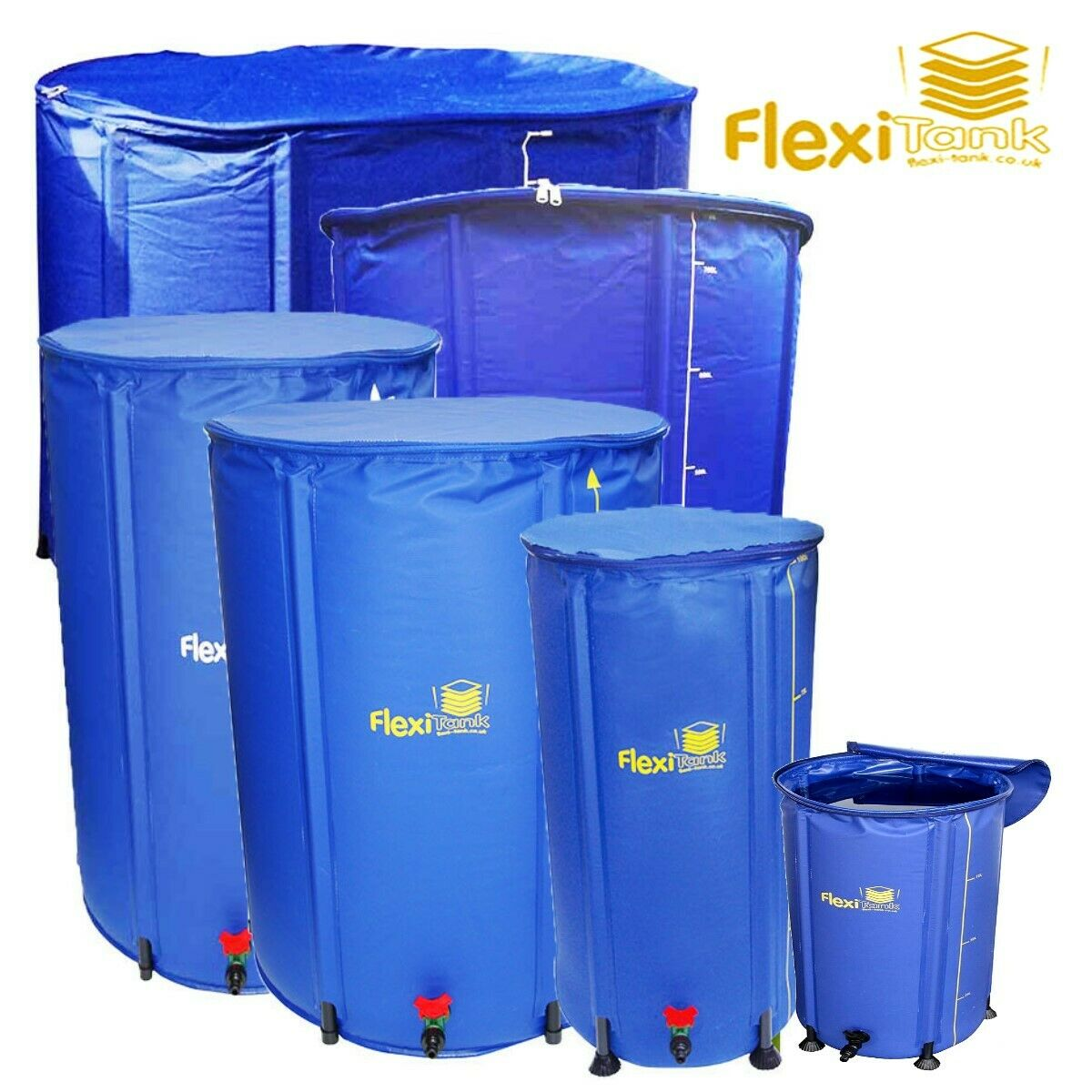FLEXITANK Portable Water Butt Tank Barrel Storage Collapsible Fold up Compact