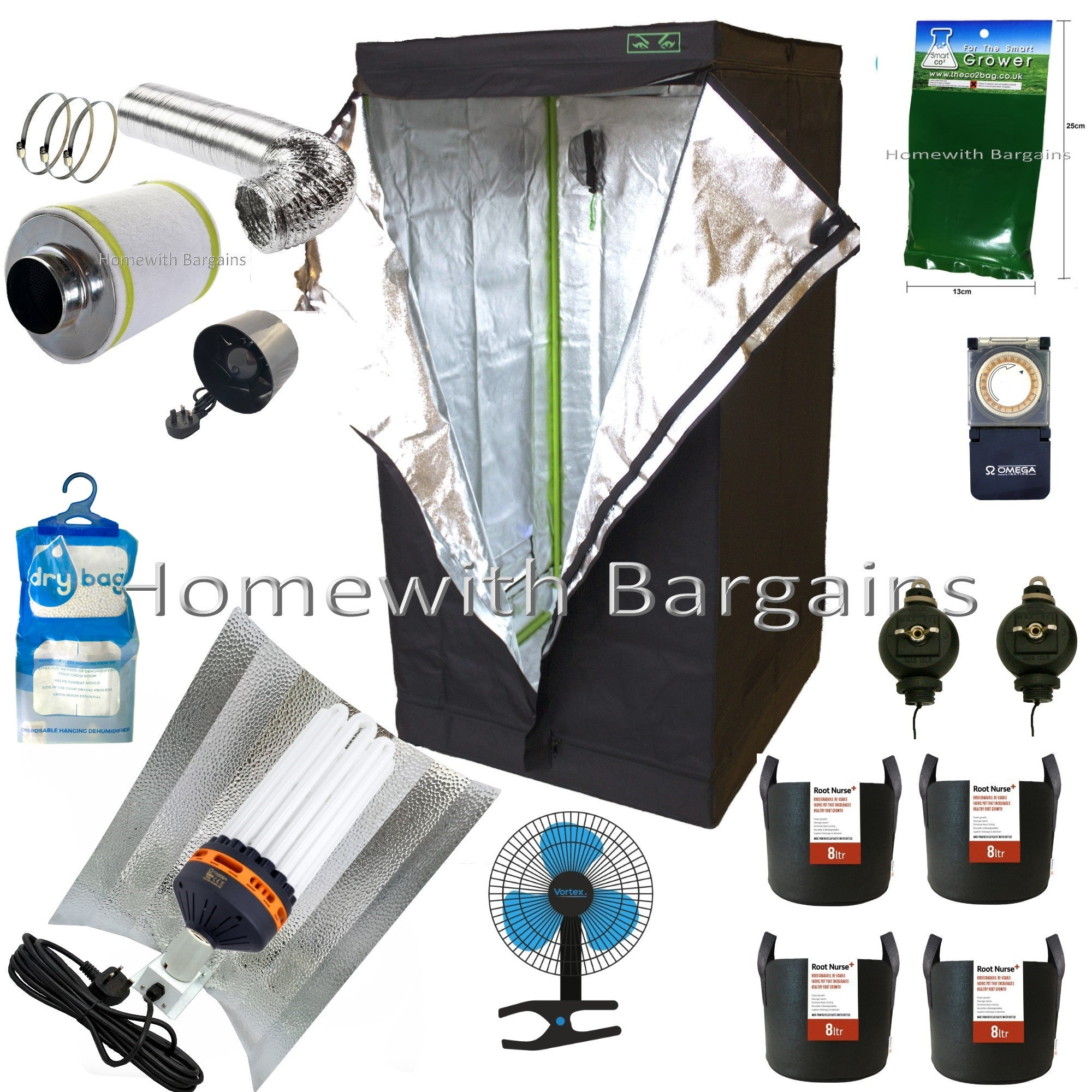 Best Complete 300w CFL Grow Flower Room Full Setup 80cm Tent 4\  Fan Filter  sc 1 st  Homewith Bargains & Best Complete 300w CFL Grow Flower Room Full Setup 80cm Tent 4\