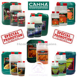 CANNA ADDITIVES: Boost Rhizotonic Cannazym PK 13/14 CalMag Flush - Hydroponics