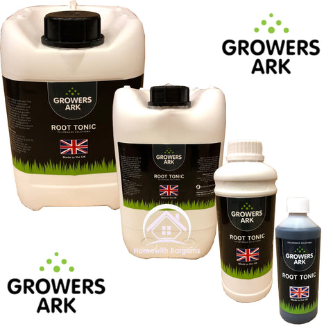 Grower Ark ROOT TONIC Nutrient Plant Grow Bloom Feed Hydroponics MADE IN THE UK