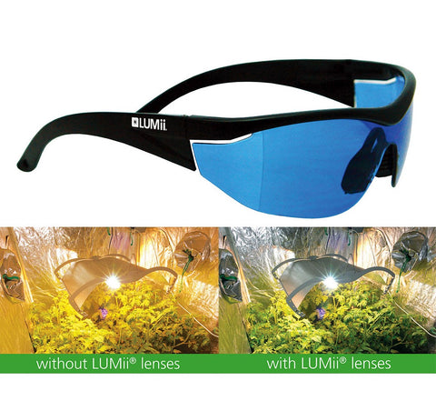LUMii Grow Room Glasses Growroom Lenses Hydroponics Daylight Vision Anti Glare