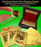 24 Carat Gold Leaf Poker, Blackjack, Flexable Plastic Playing Cards RRP £29.95