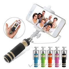 Mini Monopod Selfie Stick Telescopic Wired Remote Shutter Control