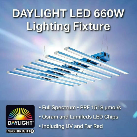 660w Maxibright Daylight LED (8 Strip) Grow Light Full Spectrum Grow & Flower