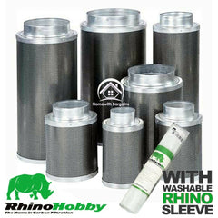 "Carbon Filter RHINO HOBBY 4"" 5"" 6"" 8"" 10"" Air Odour Control Hydroponics"