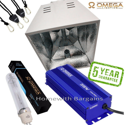 315w CDM Digital Omega Ballast 3000k FULL SUNLIGHT SPECTRUM Enclosed Reflector