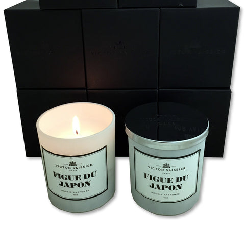 2 Scented Wax Candles Victor Vaissier Figue Du Japon Glass Jar Fragrance Candle