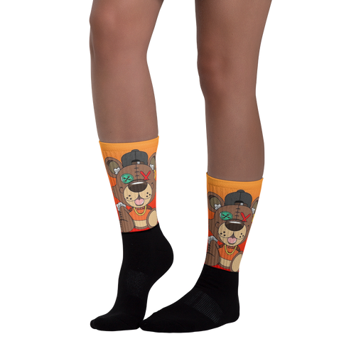 Stitches the Bear - Black Foot Socks