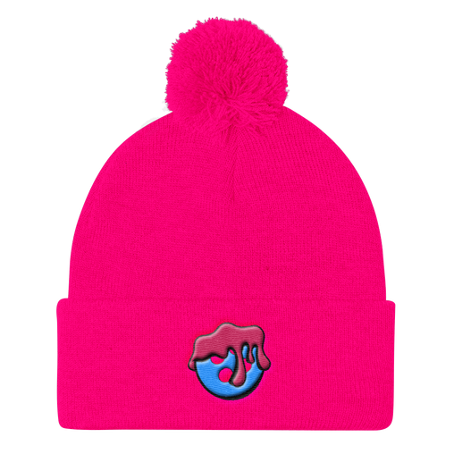 SXS Blueberry Drip Button Beanie