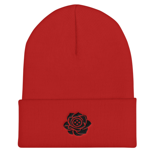 SXS Button Rose Logo Beanie (Black)