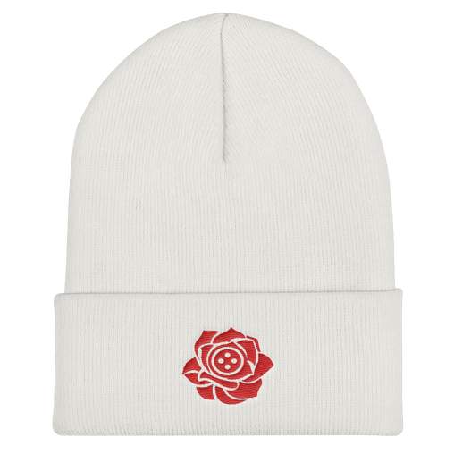 SXS Button Rose Logo Beanie ( Red)