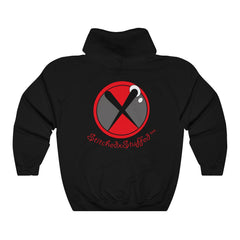 SXS Grey / Red Button Hooded Sweatshirt