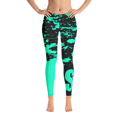 SXS Turquoise Paint Leggings