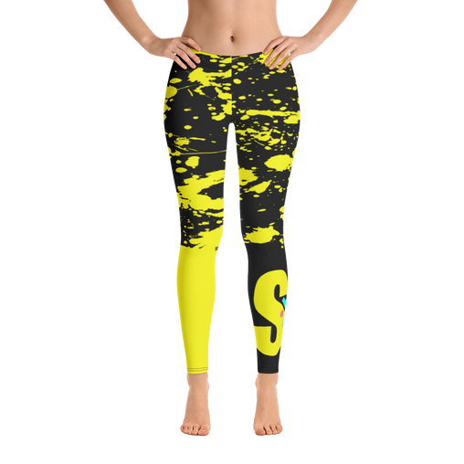 SXS Yellow Paint Leggings