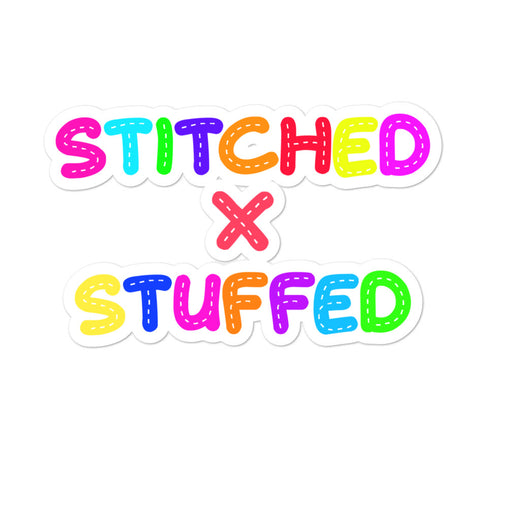 StitchedxStuffed Stitched Logo Sticker