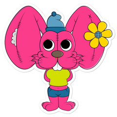 Needles the Rabbit Sticker