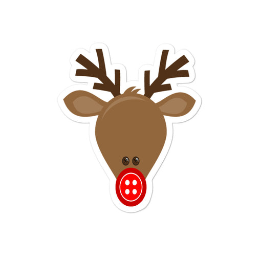Poly the Button Nose Reindeer sticker