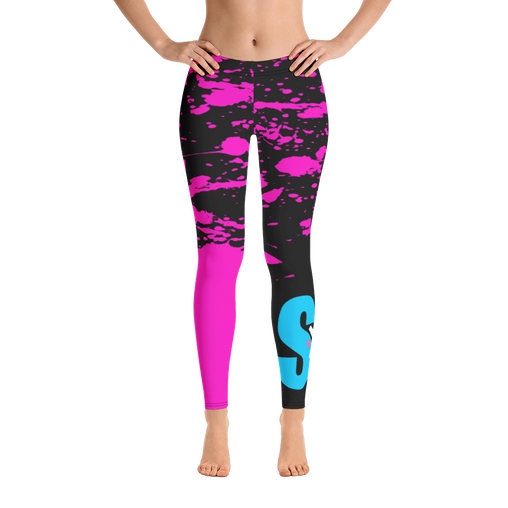 SXS Pink Paint Leggings