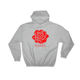SXS Red Rose Button Hoodie
