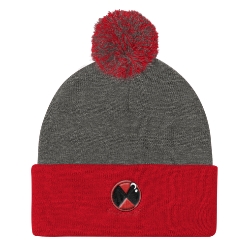 SXS Button Logo Beanie ( Black / Red / Grey)
