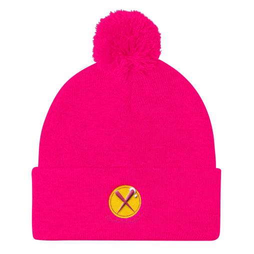 SXS Button Logo Beanie ( Pink / Yellow )