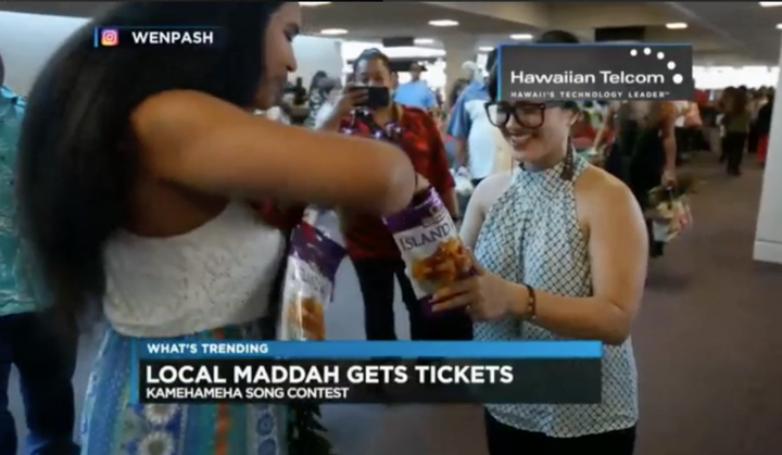 Hawaii local mother tries to get into song contest