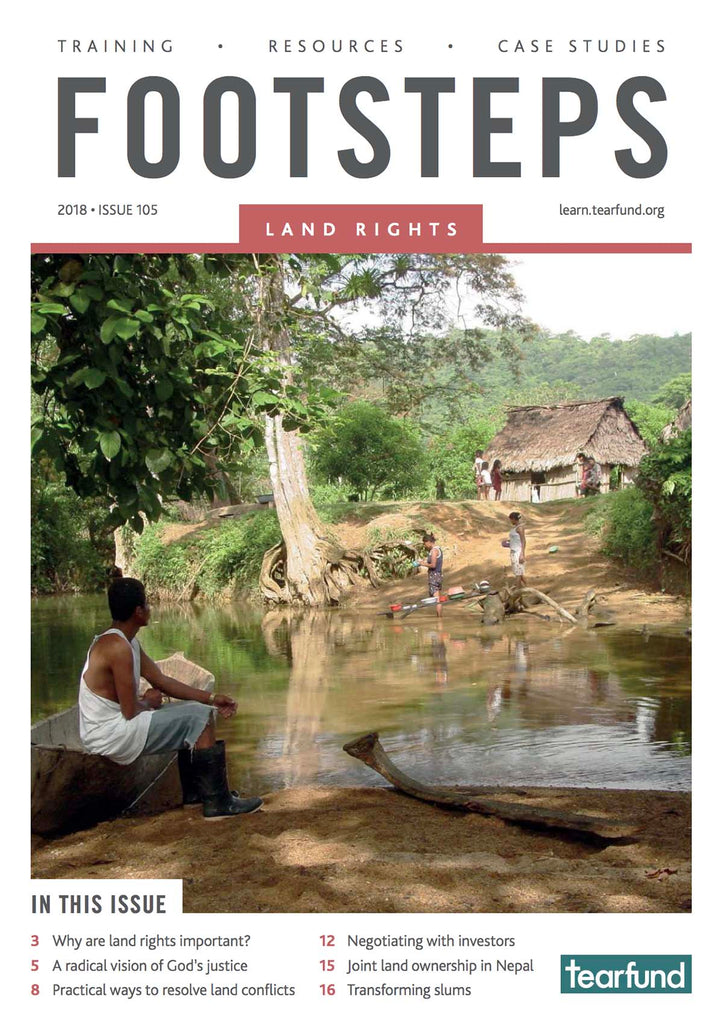 Footsteps 105: Land rights (English) (Pack of 10)