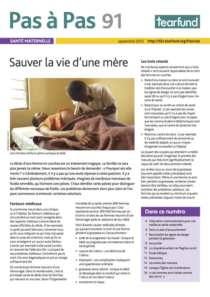 Footsteps 91: Maternal health (French)